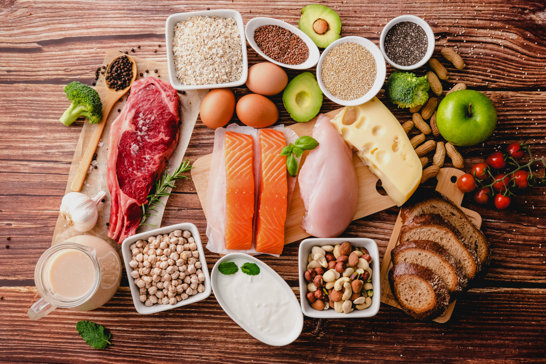 Health fats, protein and carbs