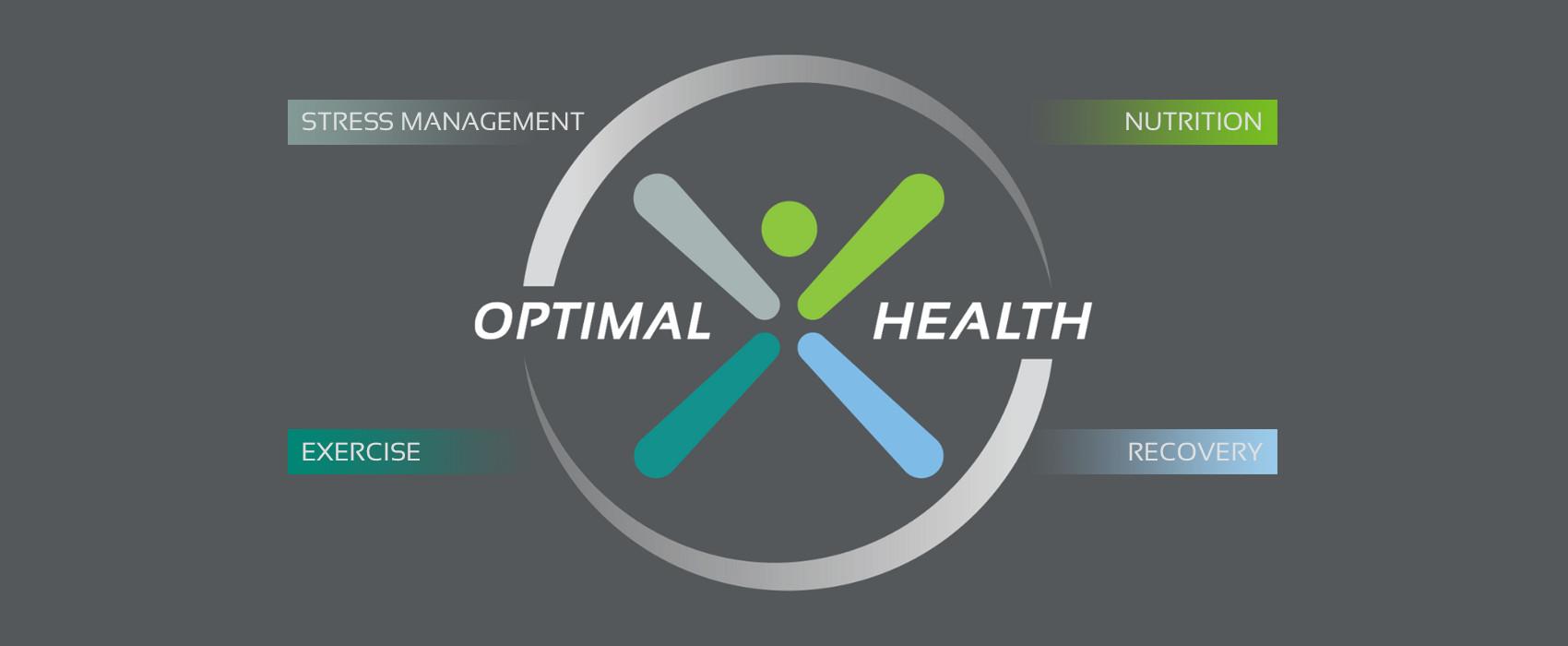 optimal health symbol with pillars